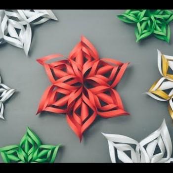 Trabalhos Manuais: Floco de Neve 3D
